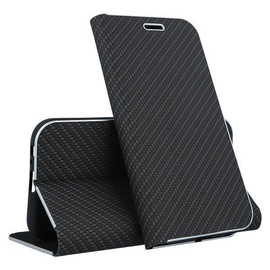 Mocco Carbon Leather Book Case For Samsung Galaxy S10 Black