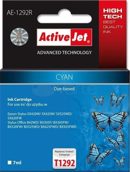ActiveJet Cartridge AE-1292R For Epson 9ml Cyan