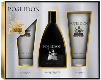 Vīriešu smaržu komplekts Instituto Español Poseidon Gold Ocean 150 ml EDT + 150 ml After Shave + 150 ml Shower Gel