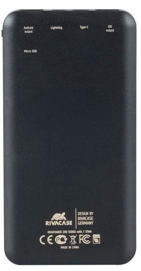 Rivacase Power Bank 10000mAh Black