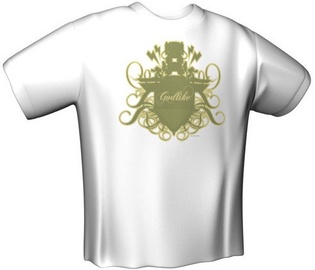 GamersWear Godlike T-Shirt White L