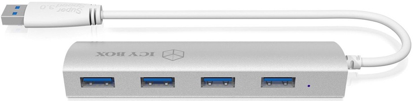 ICY BOX IB-AC6401 4x Port USB 3.0 Hub Silver