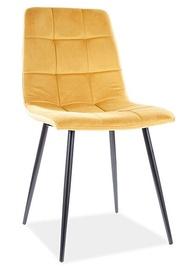 Ēdamistabas krēsls Signal Meble Mila Velvet, dzeltena
