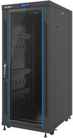 "Lanberg 19"" Free-Standing Rack 27U/600x800 Demounted Flat Pack Black with Glass Door"