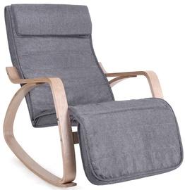 Atzveltnes krēsls Songmics Grey, 55x80x91 cm