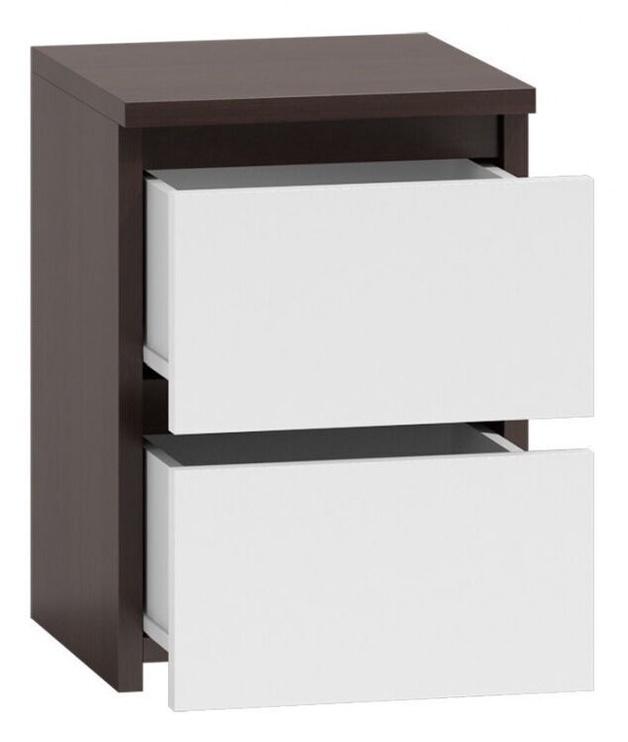 Ночной столик Top E Shop M2 Malwa, коричневый/белый, 40x30x40 см