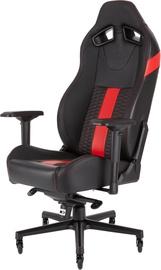 Spēļu krēsls Corsair Road Warrior T2, melna/sarkana