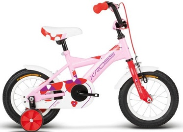 "Bērnu velosipēds Kross Cindy W040003, balta/rozā, 12"""