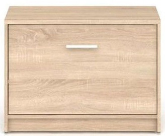 Шкаф для обуви Black Red White Nepo Plus Sonoma Oak, 700x340x500 мм