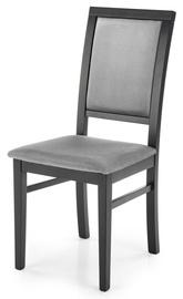 Ēdamistabas krēsls Halmar Sylwek 1, melna/pelēka