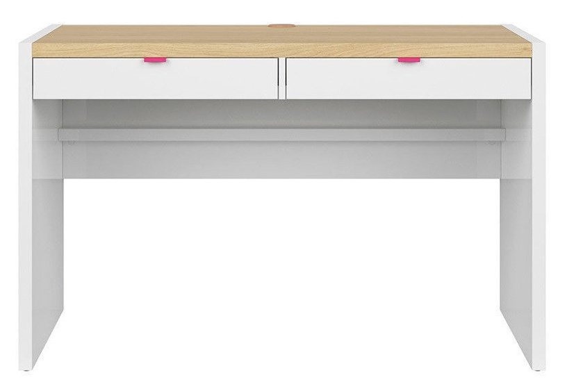 Black Red White Princeton Set Of Drawers For The Desk White/Fuchsia