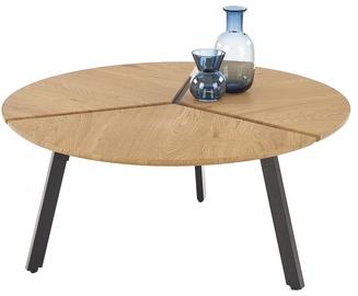 Kafijas galdiņš Halmar Luana Golden Oak/Black, 860x860x400 mm