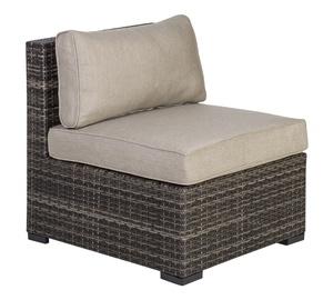 Садовый диван Home4you Sevilla, коричневый, 67 см x 76.5 см x 74.5 см
