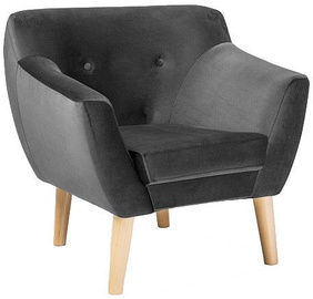 Atzveltnes krēsls Signal Meble Bergen 1 Velvet Grey, 78x54x76 cm