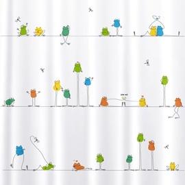 Vannas istabas aizkars Tatkraft Funny Frogs, daudzkrāsains, 1800x1800 mm