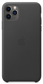 Apple Leather Back Case For Apple iPhone 11 Pro Max Black