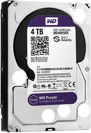 Western Digital Purple Series 4TB 5400RPM SATAIII 64MB Surveilance Hard Drive WD40PURZ