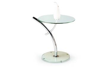 Kafijas galdiņš Halmar Iris, sudraba, 500 mm x 500 mm x 580 mm