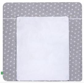 Matracis autiņu maiņai Lulando White Stars On Grey, 75x85 cm, balta/pelēka