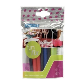 Rapid Fun to Fix Glue Stick Coloured 7mm 20pcs