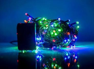 Elektriskā virtene EV LED 100, daudzkrāsaina, 7 m
