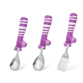 Fissman Le Bebe Cutlery Zebra Set Purple
