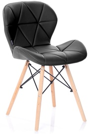 Ēdamistabas krēsls Homede Silla Eco Leather Black, 4 gab.