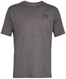Under Armour Mens Sportstyle Left Chest SS Shirt 1326799-019 Grey XL