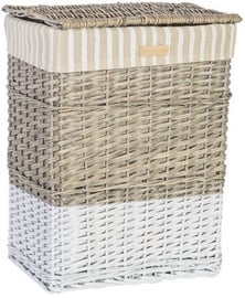 Home4you Basket Max 1 45x33xH59cm Beige/White
