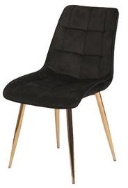 Ēdamistabas krēsls Signal Meble Chic Velvet Black/Gold, 1 gab.