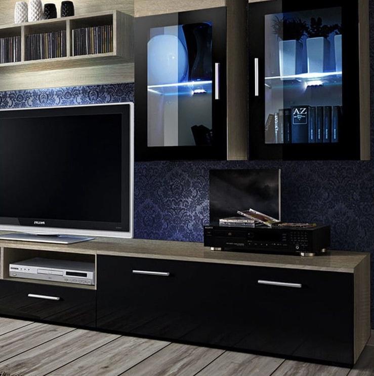 Dzīvojamās istabas mēbeļu komplekts ASM Lyra Sonoma Oak/Black