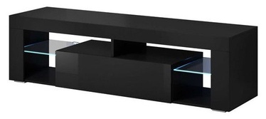 Vivaldi Meble Everest TV Stand Black/Black Gloss
