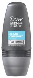 Vīriešu dezodorants Dove Men + Care Clean Comfort 48h Roll On, 50 ml