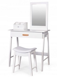 GoodHome Cosmetic Dressing Table w/​ Mirror White