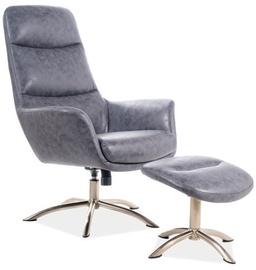 Atzveltnes krēsls Signal Meble Nixon Grey, 73x68x110 cm