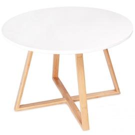 Kafijas galdiņš GoodHome Modern White/Brown, 600x600x400 mm