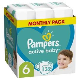 Autiņbiksītes Pampers Active Baby, 6, 128 gab.