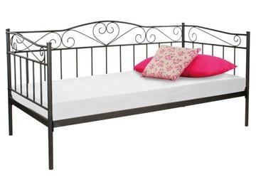 Кровать Signal Meble Birma Black, 208x96 см, с решеткой