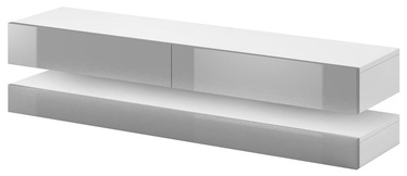 ТВ стол Vivaldi Meble Fly, белый/серый, 1400x338x350 мм