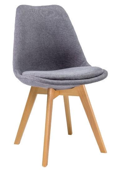 Ēdamistabas krēsls Signal Meble Dior Velvet Buk Gray, 1 gab.