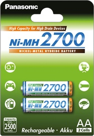 Panasonic NiMh rechargeable battery 2 x AA 2700mAh