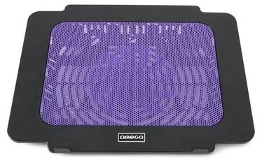 """Omega Laptop Cooling Pad 9""""-17'' Black/Violet"""