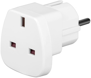 Techly Travel Adapter UK/EU White