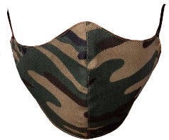 TakeMe Profiled 1-Layer Reusable Face Mask Green Camo