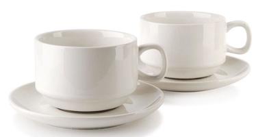 Mondex Cups With Saucer Set White 12pcs