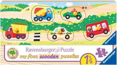 Puzle Ravensburger My First Wooden Vehicles 032365, 5 gab.