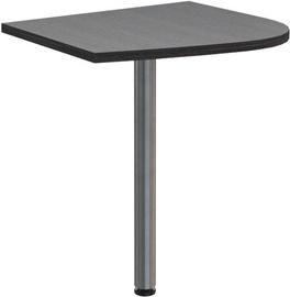 Skyland Offix New OKD 64 Table Extension 58x64x2.5cm Left Dark Wood
