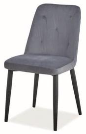 Ēdamistabas krēsls Signal Meble Duran Velvet Grey