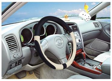 SN Steering Wheel Cover Black/Beige