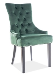 Signal Meble Edward Velvet Chair Green Bluvel 78